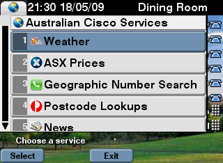 Cisco IP Phone screenshot